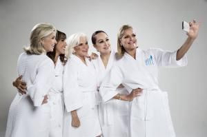 (L to R) Gisela Asencio de Alemañy, Gricel Mamery, Lucy Rodriguez Bacardí, Ruby Lefranc y Mimi Emanuelli. Photo by Giovani Cordero.