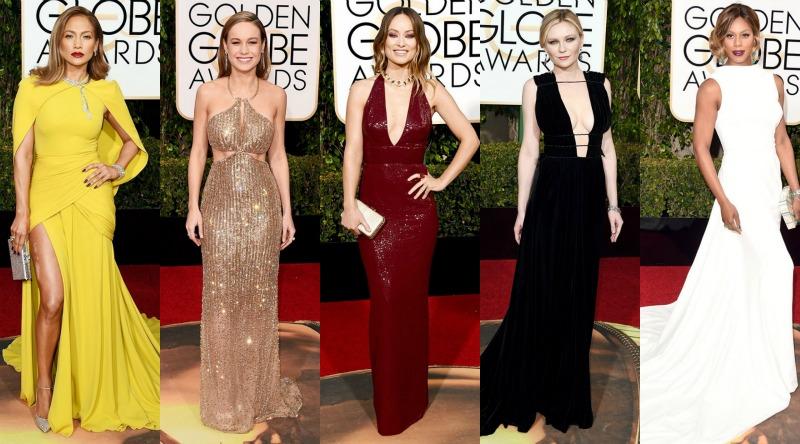 [L to R] Jennifer Lopez, Brie Larson, Olivia Wilde, Kirsten Dunst, Laverne Cox