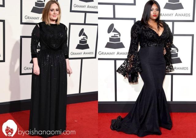 [L to R] Adele + Jazmine Sullivan.