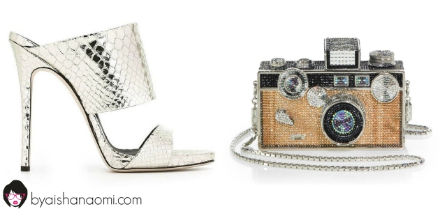 [L to R] Statement Shoe + Clutch.