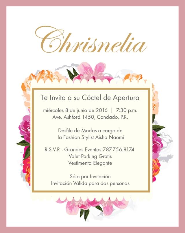 Invitacion Chrisnelia