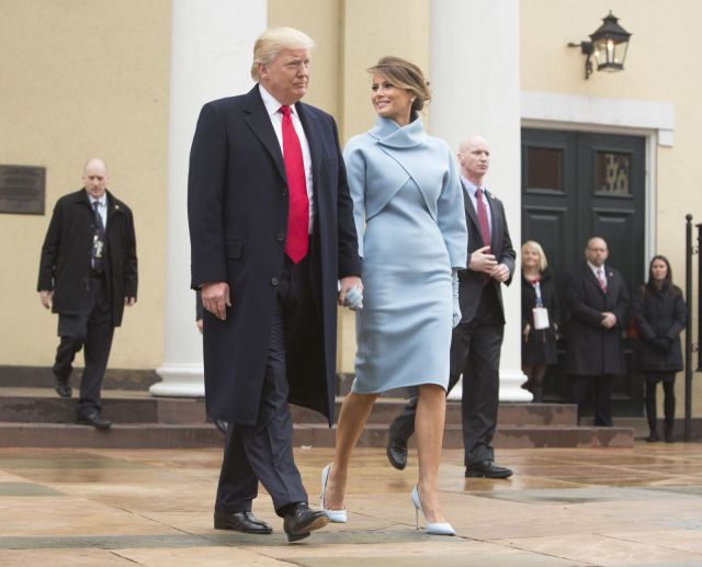 Melania Trump in Ralph Lauren for the Inauguration.