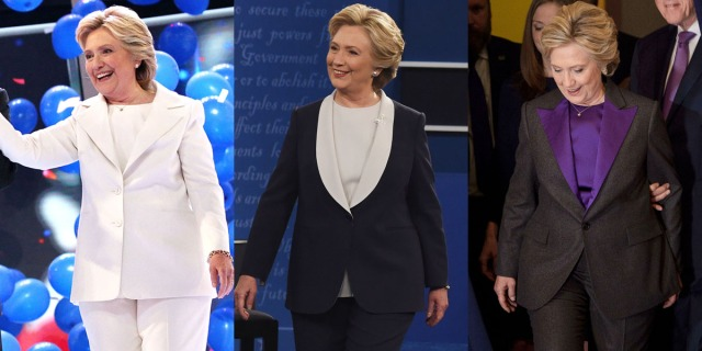 Clinton in Ralph Lauren at the DNC, second presidential debate, and her concession speech.