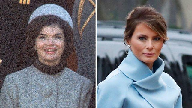 Jackie Kennedy & Melania Trump.